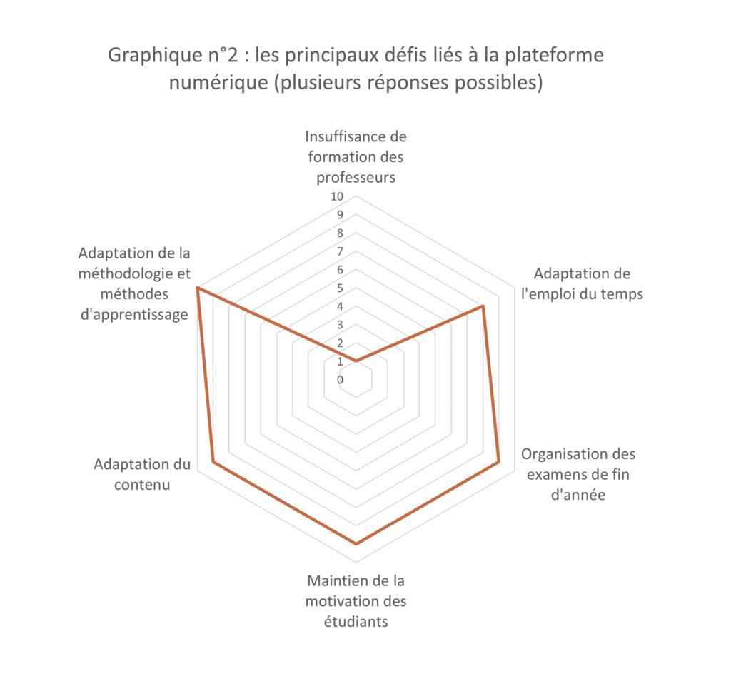 Graphique 2 - les principaux défis liés à la plateforme numérique